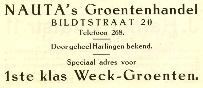 Advertentie Bildtstraat 20, Harlingen
