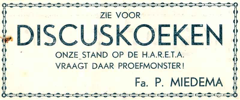 Advertentie Hoogstraat 36, Harlingen